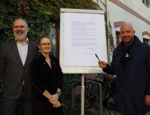 Deklaracja Rowerowego Wrocławia z pierwszym podpisem!